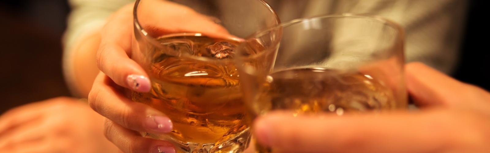 ウィスキーで大人の乾杯